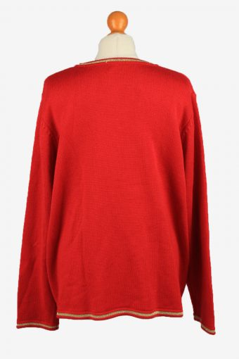 Christmas Jumper Vintage Womens Crew Neck XXL Red -IL2274-149783