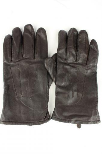 Vintage Mens Genuine Leather Gloves 90s 10 Black