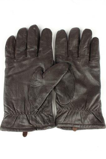 Vintage Mens Genuine Leather Gloves 90s 10 Black G242-147190