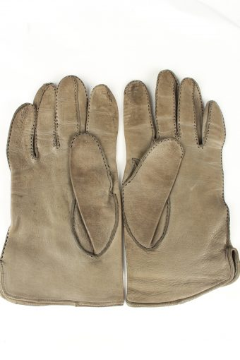 Vintage Womens Perforated Holes Gloves 90s Grey G255-147242