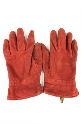 Vintage Womens Laimbock Lined Gloves 80s 8 Bordeaux
