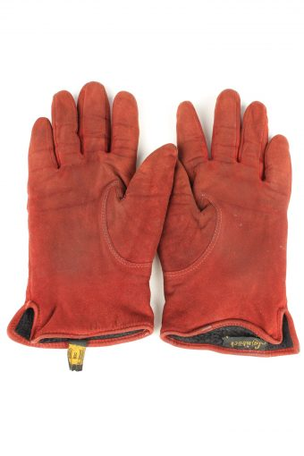 Vintage Womens Laimbock Lined Gloves 80s 8 Bordeaux G263-147310