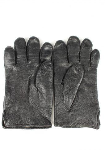 Vintage Womens Leather Gloves 80s Black G279-147374
