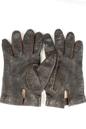 Vintage Mens Leather Gloves 80s Black G282-147386