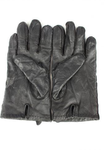 Vintage Mens Leather Gloves 80s Size Black G284-147394