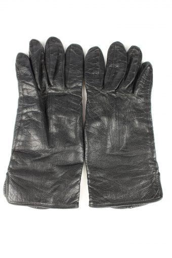 Vintage Mens Leather Gloves 80s Black