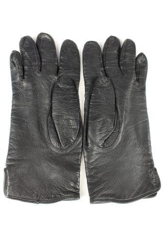 Vintage Mens Leather Gloves 80s Black G287-147406