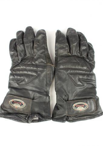 Vintage Mens Motorcycle Gloves 80s Black