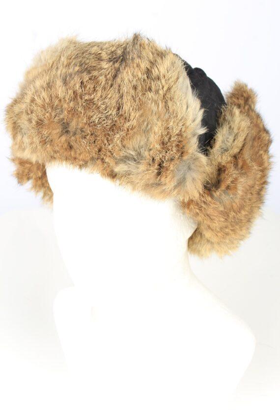Vintage J.D.C. Russian Hat Ushanka 90s Brown HAT1652-0