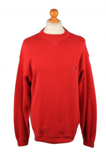 Tommy Hilfiger Mens Jumper Pullover 90s Red L