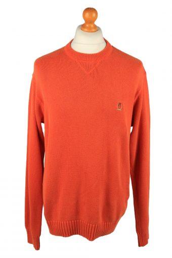 Tommy Hilfiger Mens Jumper Pullover 90s Orange L