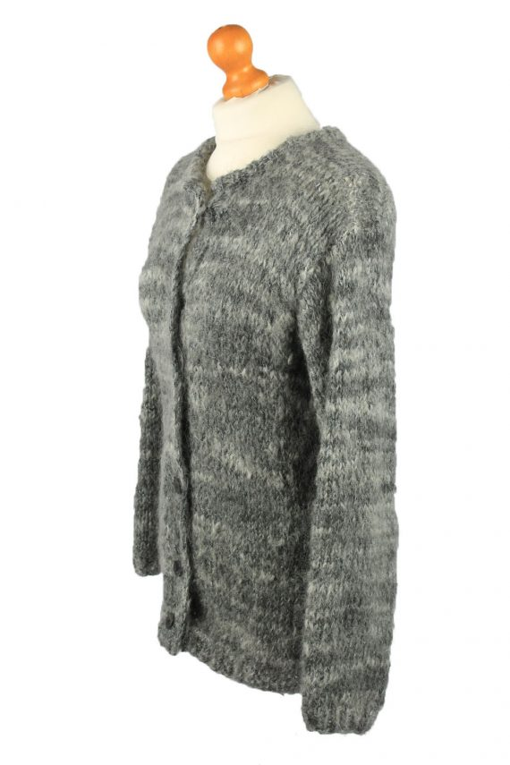 Vintage Womens Button Up Cardigan 90s M Grey -IL2139-149593