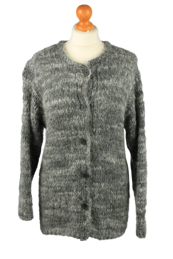 Vintage Womens Button Up Cardigan 90s M Grey -IL2139-0