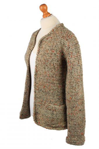 Vintage Womens Cable Knit Cardigan 90s M Brown -IL2140-149597
