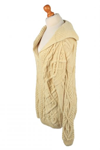 Vintage Womens Cable Knit Jumper 90s XXL Cream -IL2143-149609
