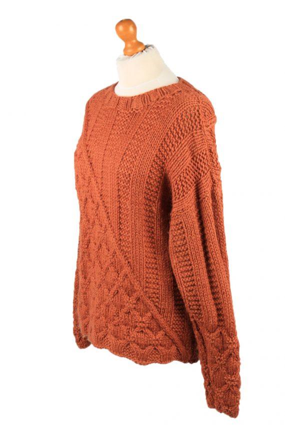 Vintage Womens Cable Knit Jumper 90s L Terra Cotta -IL2147-148105