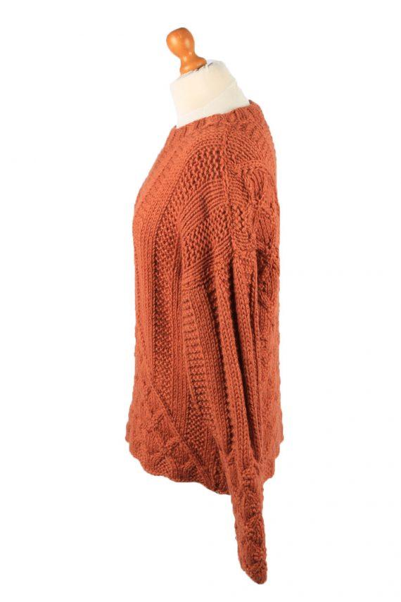 Vintage Womens Cable Knit Jumper 90s L Terra Cotta -IL2147-148106