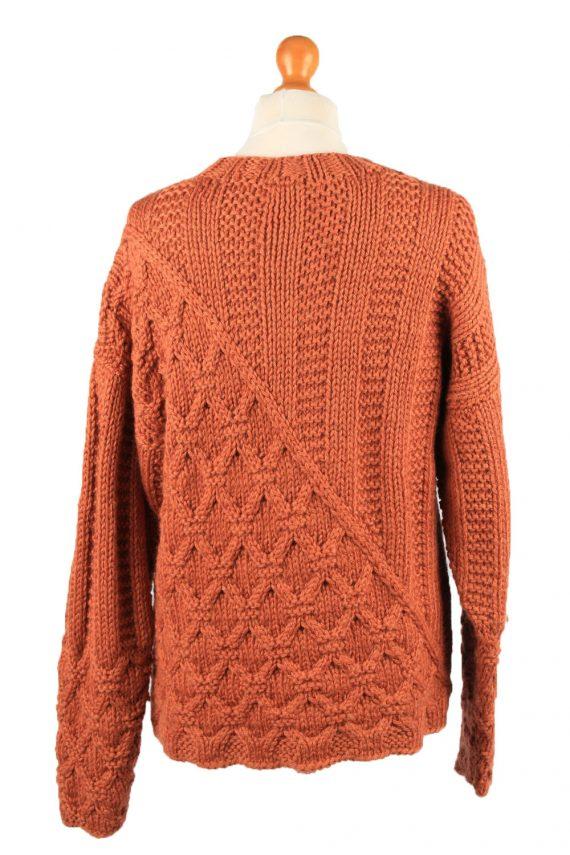 Vintage Womens Cable Knit Jumper 90s L Terra Cotta -IL2147-148107