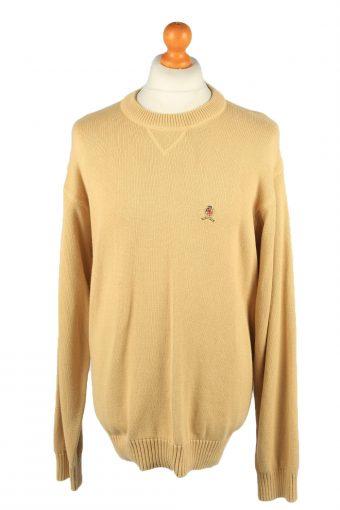 Tommy Hilfiger Mens Crew Neck Jumper 90s Mustard XL