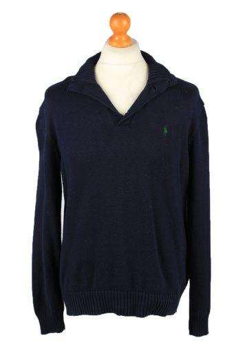 Polo Mens Jumper Pullover 90s Navy Blue M