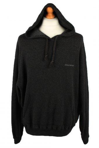 Polo Ralph Lauren Mens Hoodie Jumper 90s Black XL
