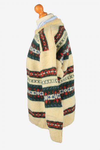 Vintage Manfield Womens Crew Neck Wool Jumper 44 Multi IL2188-148781