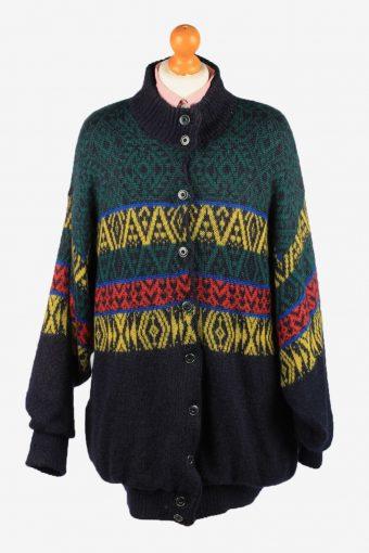 Womens Wool Mix Lined Cardigan Marz Munchen Multi XL