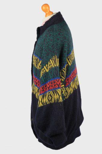 Vintage Marz Munchen Womens Wool Mix Lined Cardigan UK 12 Multi IL2197-148817