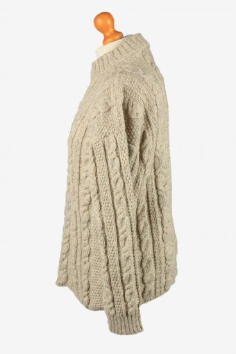 Vintage Tig Slea Head Womens Cable Wool Jumper M Brown -IL2204-148845