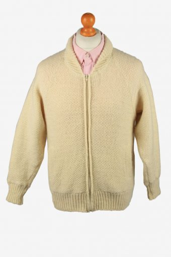 Cable Wool Cardigan Devold Beige M