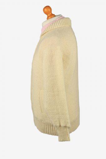 Vintage Devold Unisex Cable Wool Cardigan Beige -IL2209-148865