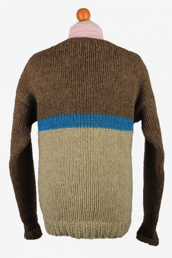 Vintage Mens Crew Neck Knit Jumper L Brown -IL2222-148918