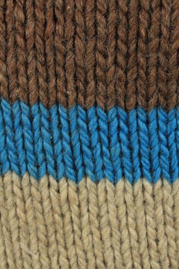 Vintage Mens Crew Neck Knit Jumper L Brown -IL2222-148919