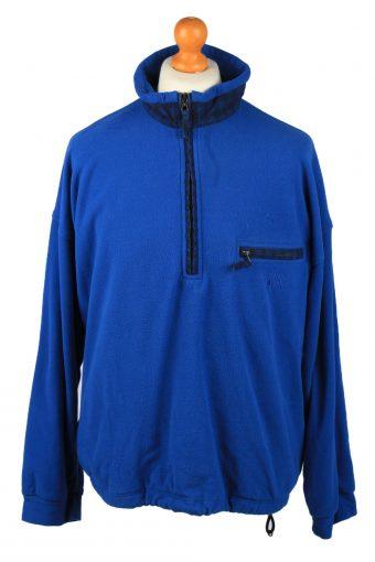 Think Pink Half Zip Mens Fleece Top Pullover Blue XL