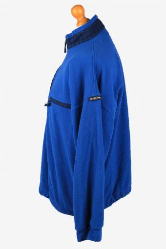 Vintage Think Pink Half Zip Mens Fleece Top Pullover XL Blue -SW2663-148393
