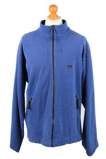 Helly Hansen Zip Up Mens Fleece Top Pullover Jacket Blue XL