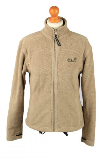 Jack Wolfskin Zip Up Womens Fleece Top Pullover Jacket Camel S