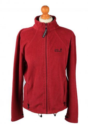 Jack Wolfskin Zip Up Womens Fleece Top Pullover Jacket Red L