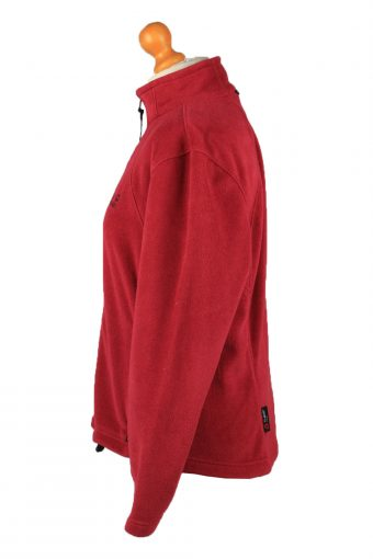 Vintage Jack Wolfskin Zip Up Womens Fleece Top Pullover Jacket UK 16 Red -SW2671-148426
