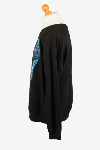 Vintage Esmx Mens College Sweatshirt Top XXL Black -SW2677-149036