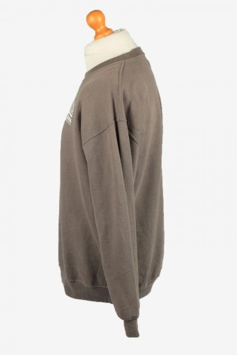Vintage Gildan Mens College Sweatshirt Top L Brown -SW2679-149044