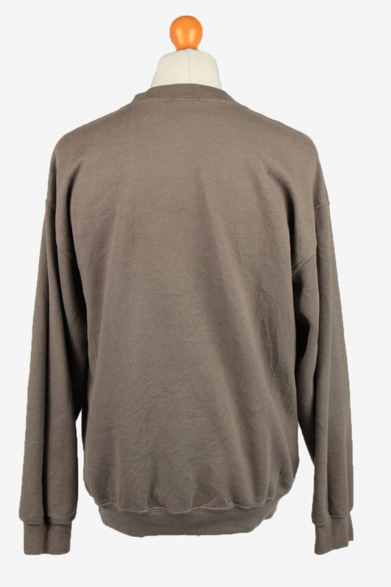 Vintage Gildan Mens College Sweatshirt Top L Brown -SW2679-149045