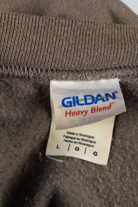 Vintage Gildan Mens College Sweatshirt Top L Brown -SW2679-149046