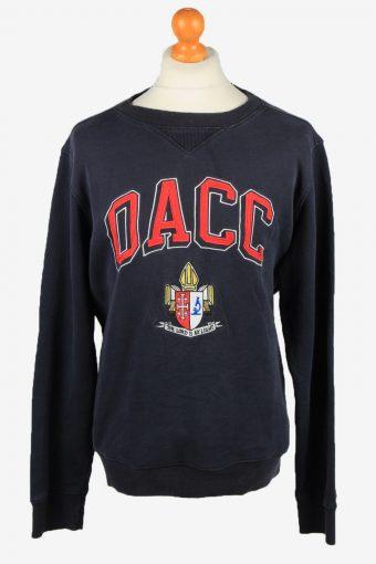 Sweatshirt Top 90s Retro College Navy XL