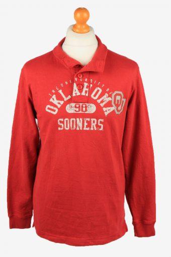 Sweatshirt Top 90s Retro College Red S