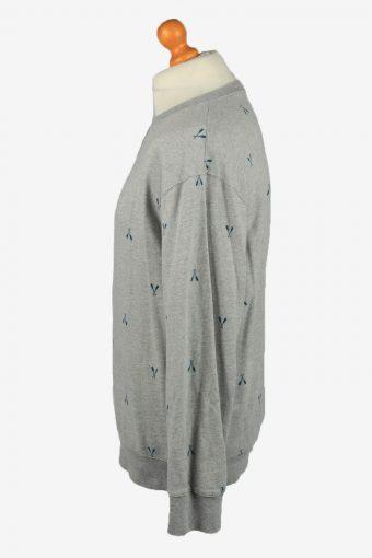 Vintage Merona Mens College Sweatshirt Top XL Grey -SW2685-149068