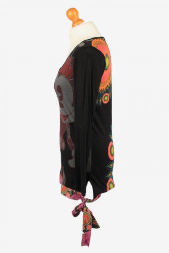 Vintage Disney Womens Wide Neck Top Pullover XL Black -SW2691-149092