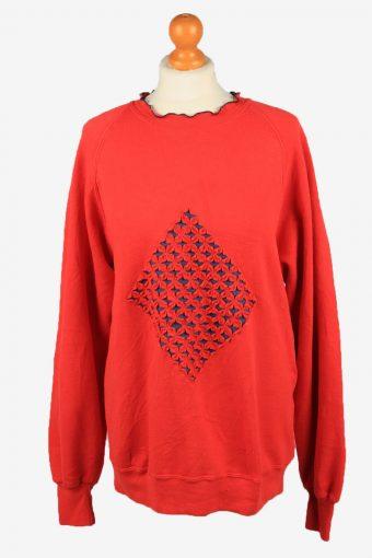 Jerzees Womens Crew Neck Sweatshirt Top Red XL