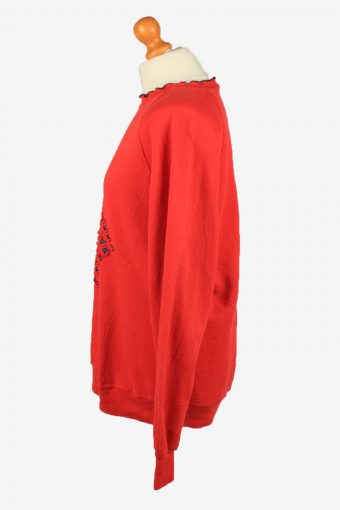 Vintage Jerzees Womens Crew Neck Sweatshirt Top XL Red -SW2696-149112