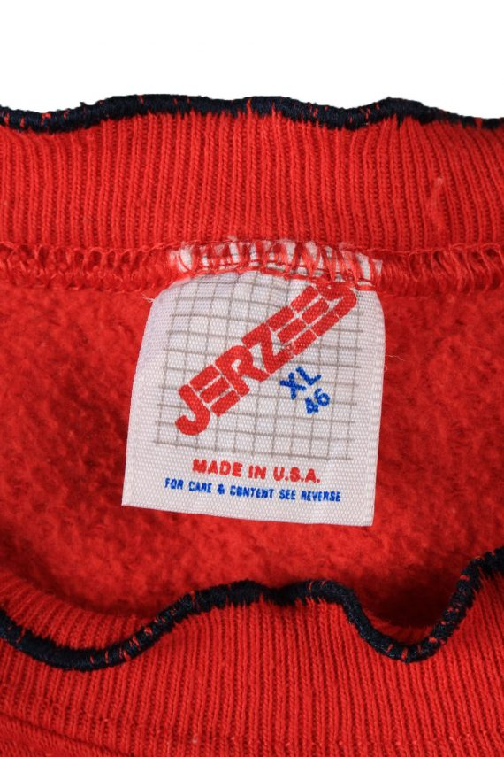 Vintage Jerzees Womens Crew Neck Sweatshirt Top XL Red -SW2696-149114